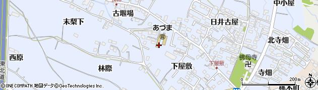 福島県福島市笹木野(下屋敷)周辺の地図