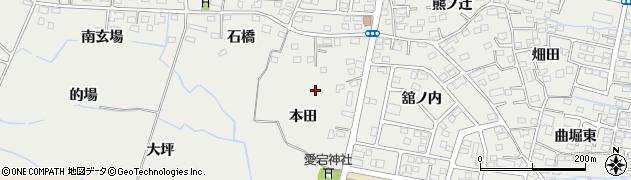 福島県福島市南沢又(本田)周辺の地図