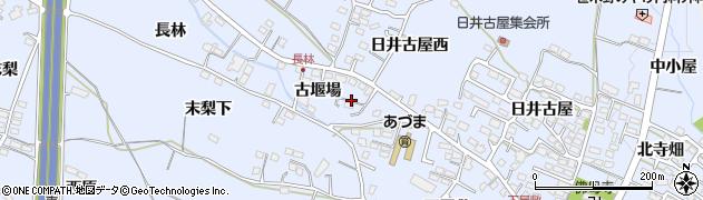 福島県福島市笹木野(古堰場)周辺の地図