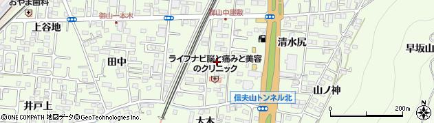 福島県福島市御山(稲荷田)周辺の地図
