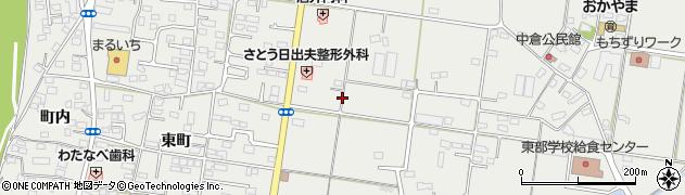福島県福島市岡部周辺の地図