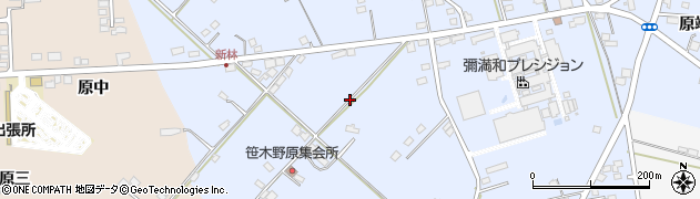 福島県福島市笹木野(笹木野原)周辺の地図