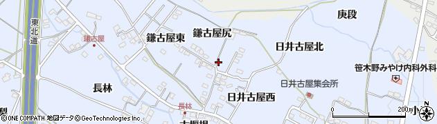 福島県福島市笹木野(鎌古屋東)周辺の地図