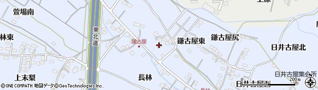 福島県福島市笹木野(鎌古屋前)周辺の地図
