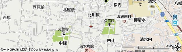 福島県福島市南沢又(北川原)周辺の地図