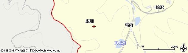 福島県伊達市保原町高成田(広畑)周辺の地図