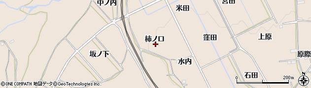 福島県福島市町庭坂(柿ノ口)周辺の地図