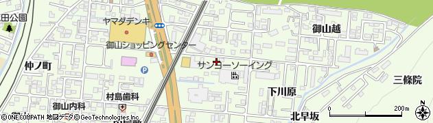 福島県福島市御山(中川原)周辺の地図