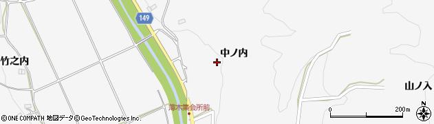 福島県伊達市霊山町山戸田(中ノ内)周辺の地図