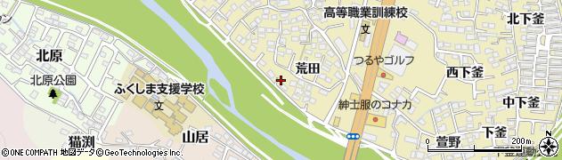 福島県福島市本内(西松川畑)周辺の地図