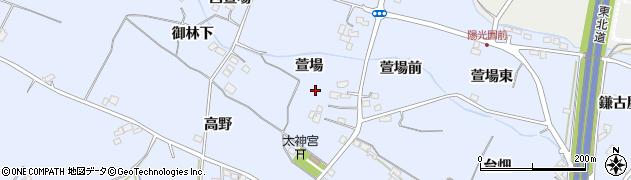 福島県福島市笹木野(萱場)周辺の地図