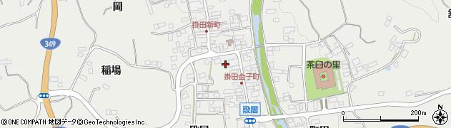 福島県伊達市霊山町掛田(金子町)周辺の地図