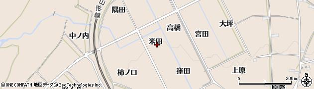 福島県福島市町庭坂(米田)周辺の地図