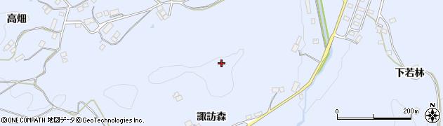 福島県伊達市保原町富沢(諏訪森)周辺の地図