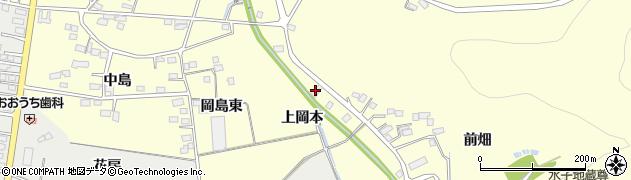 福島県福島市岡島(上岡本)周辺の地図