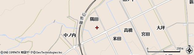 福島県福島市町庭坂(隅田)周辺の地図