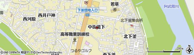 福島県福島市本内(中街道下)周辺の地図