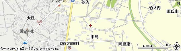 福島県福島市岡島(中島)周辺の地図