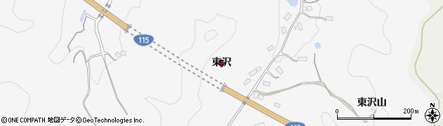 福島県伊達市保原町柱田(東沢)周辺の地図