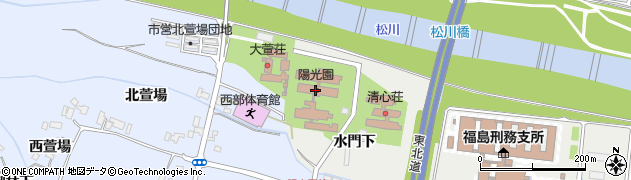 福島県福島市南沢又(水門下)周辺の地図