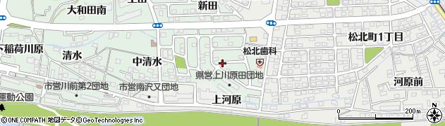 福島県福島市北沢又(川原田)周辺の地図