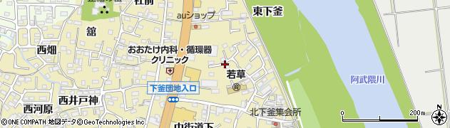 福島県福島市本内(南町裏)周辺の地図