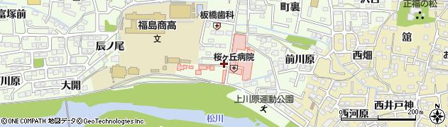 福島県福島市丸子(上川原)周辺の地図
