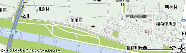 福島県福島市笹谷(釜川原)周辺の地図