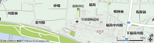 福島県福島市北沢又(稲荷前)周辺の地図