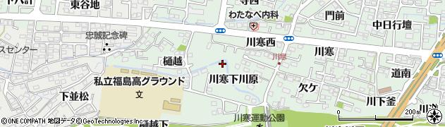 福島県福島市北沢又(川寒下川原)周辺の地図