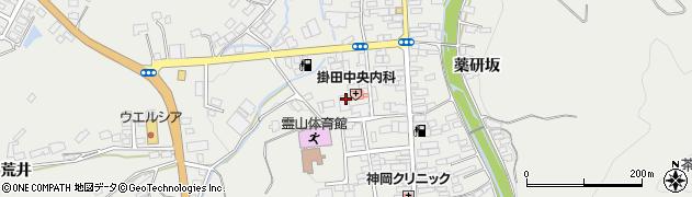 福島県伊達市霊山町掛田(西裏)周辺の地図