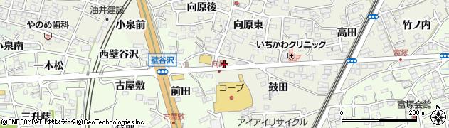 福島県福島市南矢野目(向原)周辺の地図