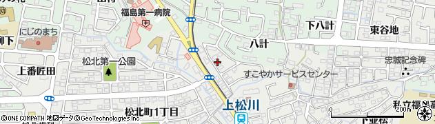 福島県福島市南沢又(下番匠田)周辺の地図