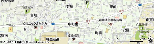 福島県福島市丸子(中町裏)周辺の地図