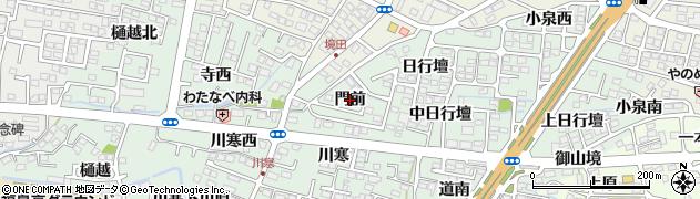 福島県福島市北沢又(門前)周辺の地図