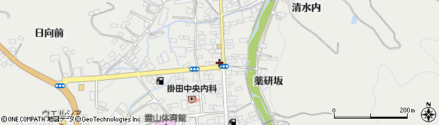 福島県伊達市霊山町掛田(北町)周辺の地図