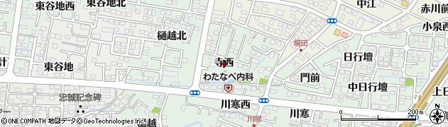 福島県福島市北沢又(寺西)周辺の地図
