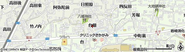福島県福島市南矢野目(台畑)周辺の地図