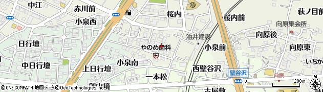 福島県福島市南矢野目(小泉)周辺の地図