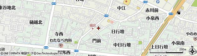福島県福島市南矢野目(境田)周辺の地図