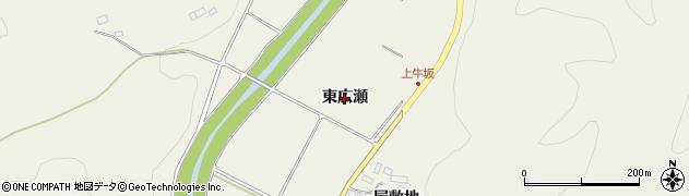 福島県伊達市霊山町中川(東広瀬)周辺の地図