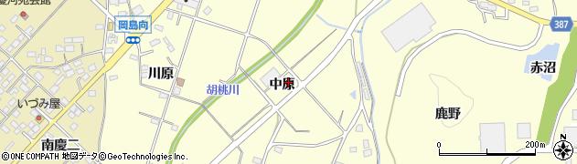 福島県福島市岡島(中原)周辺の地図