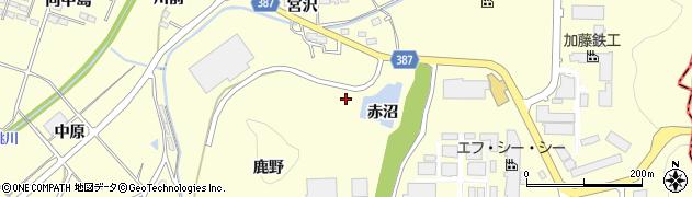 福島県福島市岡島(宮沢前)周辺の地図