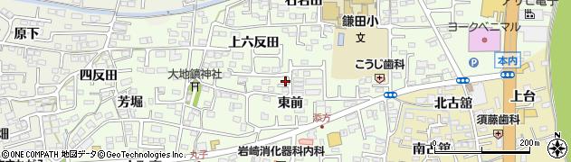 福島県福島市丸子(東前)周辺の地図