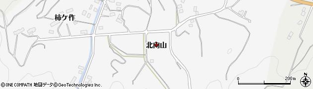 福島県伊達市保原町柱田(北向山)周辺の地図