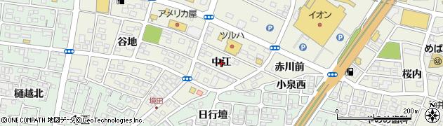 福島県福島市南矢野目(中江)周辺の地図