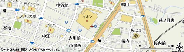 福島県福島市南矢野目(西荒田)周辺の地図