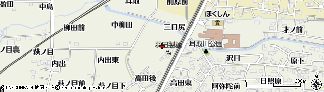 福島県福島市南矢野目(下柳田)周辺の地図