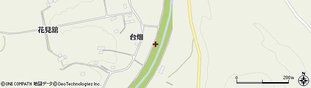 福島県伊達市霊山町中川(西広瀬)周辺の地図