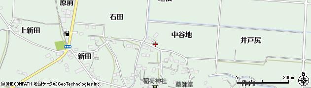 福島県福島市大笹生(中谷地)周辺の地図